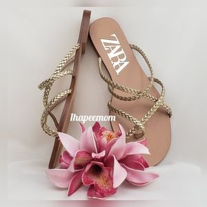 Zara | Shoes | Sandals | Slippers | Gold